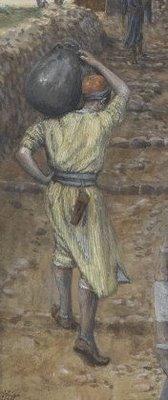James Tissot, L'homme à la cruche, 1886 - Brooklyn Museum (détail)