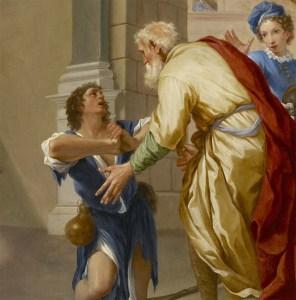 Domenico Maria Viani (1668-1711) Le retour du fils prodigue (détail)