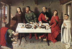 Dierick Bouts, Le repas chez Simon, 1440