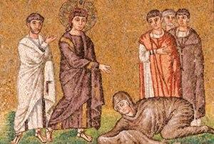 Jésus et la femme hémoroïsse, Saint Apollinaire, Ravenne, VI°s.