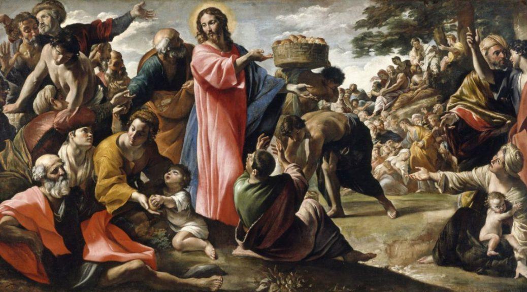 Miracle des pains et des poissons, Giovanni Lanfranco, 1630