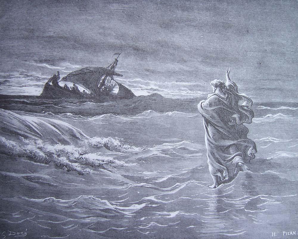 Jésus marche sur la mer, Héliodore Pisan, 1880
