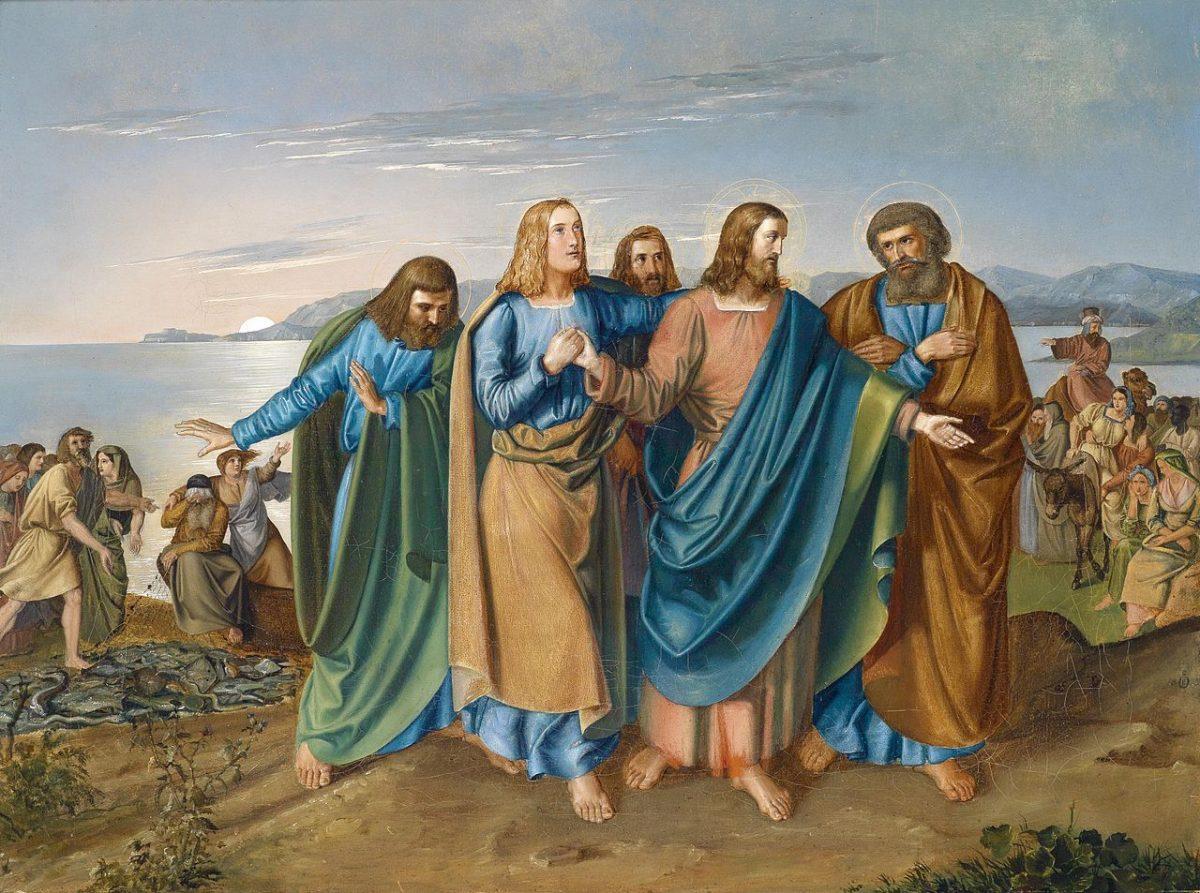 1833, C.W.Friedrich Oesterley, dÄ Jesus am See Genezereth