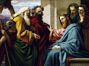 Ernst_Karl Georg Zimmerman, Jésus et des pharisiens,1900