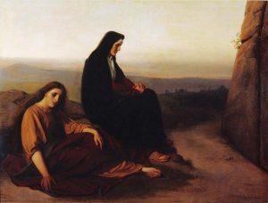 Nordenswan, Les femmes assises face au tombeau, 1868