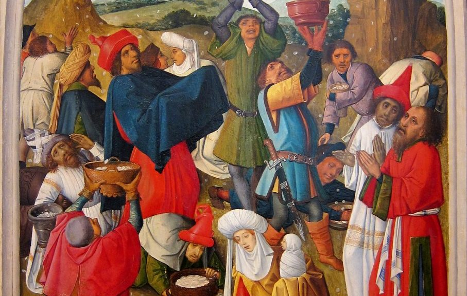 La récolte de la manne, 1470, à la Chartreuse de Douai