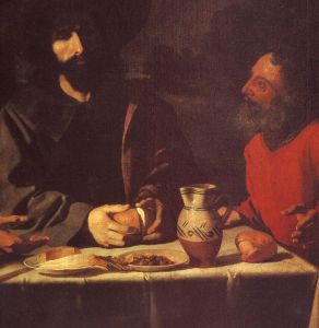 Francisco de Zurbaran, Le repas a Emmaus (detail) 1639