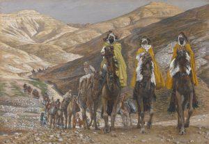 Les rois mages en voyage, James Tissot, 1890.j