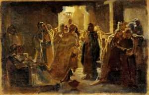 Nikolay Ge, le Christ à la synagogue, 1868