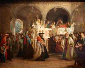 Salomon Alexander Hart, fête de la Torah - Simhat Torah à la synagogue, 1806