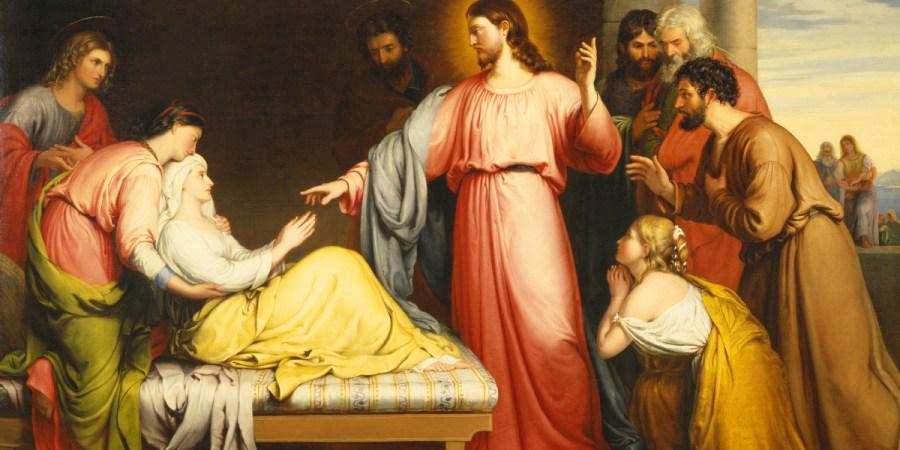 Christ guérissant la Belle-mère de Simon Pierre, John Bridges, 1839