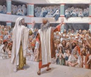 James tissot, Moïse et Aaron s'adressant aux fils d'Israël, 1893