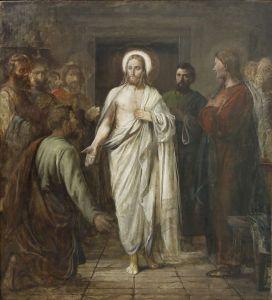 Den Vantro, manifestation de Jesus à St Thomas, 1870
