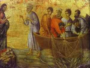 Duccio, La pêche miraculeuse, XIIIe