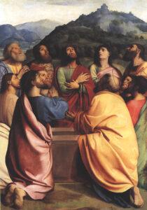 Alberto Piazza, Apostoles entorno al Sepulcro,, XVIe