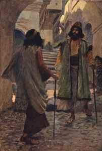 James Tissot, Saul rencontre Samuel, 1890