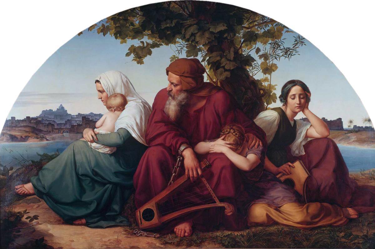 Edouard Bendemann, Tristesse des juifs exiles, 1832.