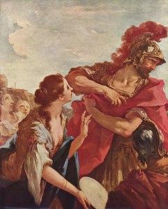 Giovanni Antonio Pellegrini, le retour de Jephté, 1700