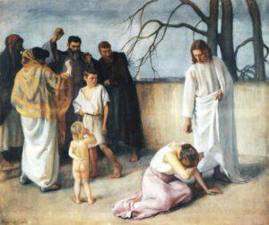 Eero Järnefelt, Jésus et la femme adultère, 1908