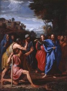 Nicolas Colombel, Christ guérit un aveugle, 1682
