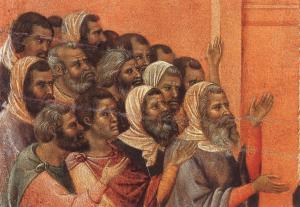 Duccio di Buoninsegna, Pharisiens accusant le Christ, XIV° s.