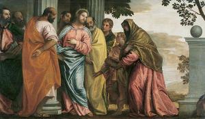 Veronese, Le Christ rencontrant la mere et les fils de Zebedee, 1565, Grenoble