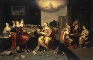 Francken Hieronymus le jeune, La parabole des vierges avisées et folles, 1616