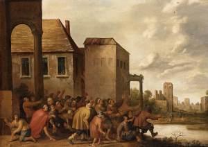 Joost Cornelisz. Droochsloot, la piscine de Bethzatha, 1645.