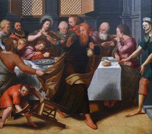 Pieter Pourbus, Ledernier repas (cène), 1548