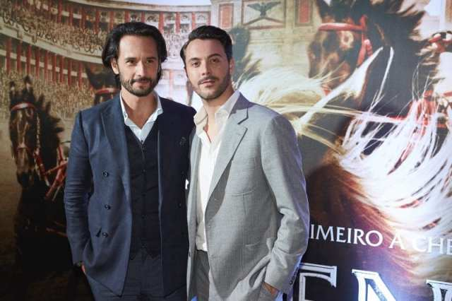 """SAO PAULO, BRAZIL - AUGUST 01: Rodrigo Santoro and Jack Huston attends the Brazil Premiere of the Paramount Pictures title """"Ben Hur"""", on August 1, 2016 at Cinepolis JK in Sao Paulo, Brazil. (Photo by Mauricio Santana/Getty Images for Paramount Pictures)"""