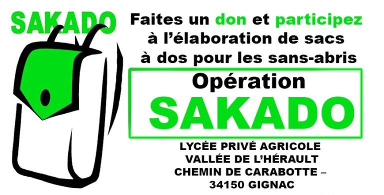 Projet SAKADO 2020: Le Lycée agricole de Gignac appelle aux dons