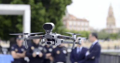 Dron utilizado por la Policía