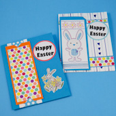 Easter bookmark greeting card made Easter Dots ePaper