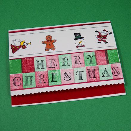 Card Making Idea Ribbon Edge Christmas Card Tutorial