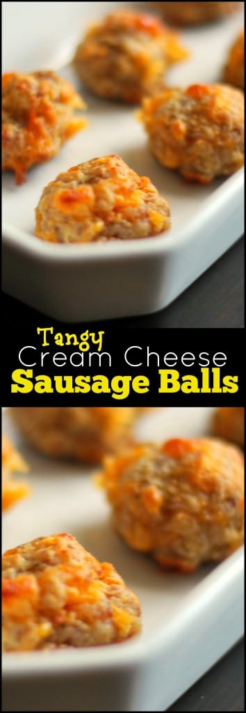 Tangy Cream Cheese Sausage Balls | Aunt Bee's Recipes