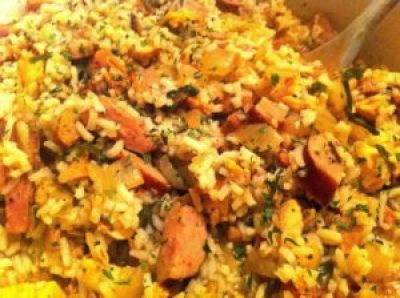 Cajun Jambalaya with Chicken, Sausage & Ham | Aunt Bee's Recipes