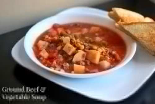 Nana's Ground Beef & Vegetable Soup | Aunt Bee's Recipes