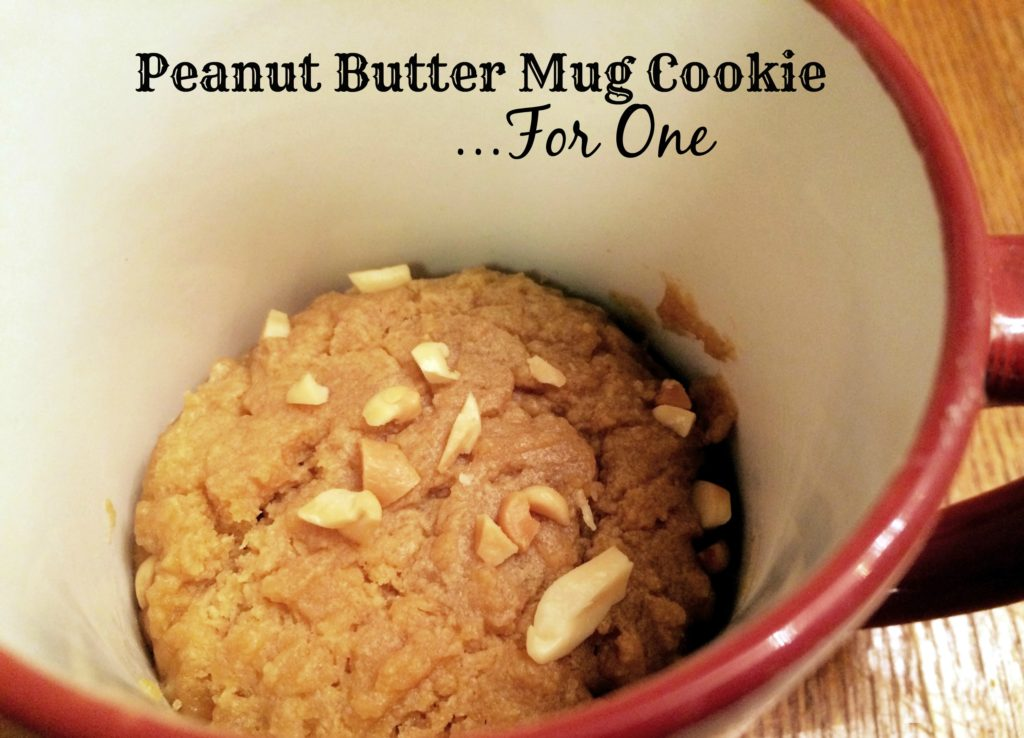 Peanut Butter Mug Cookie...For One | Aunt Bee's Reco[es