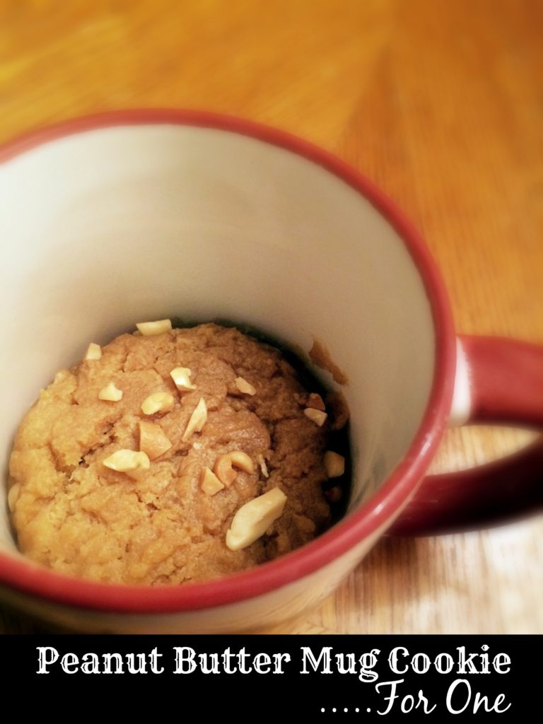 Peanut Butter Mug Cookie...For One | Aunt Bee's Recipes