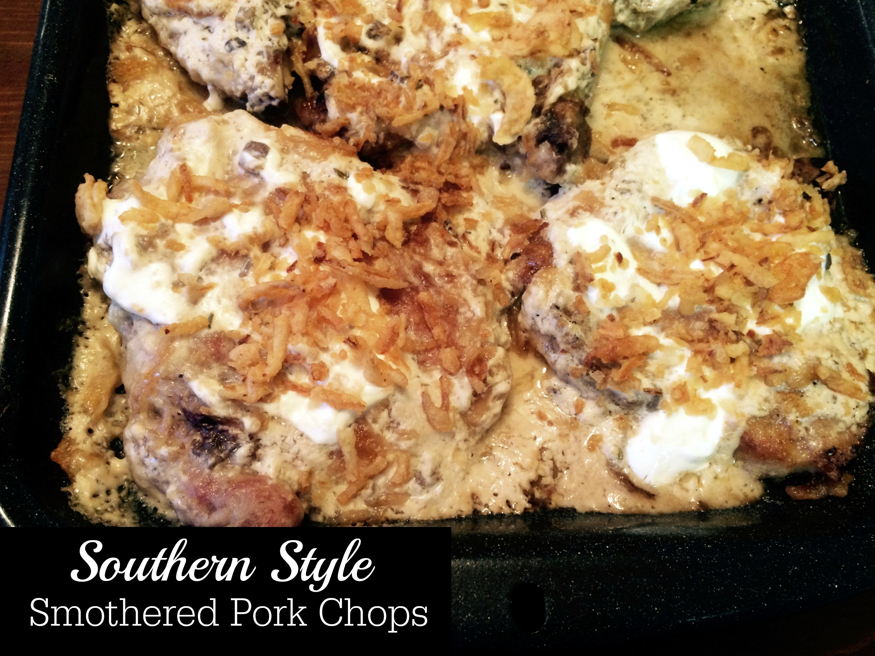 Southern Style Smothered Pork Chops Aunt Bee S Recipes