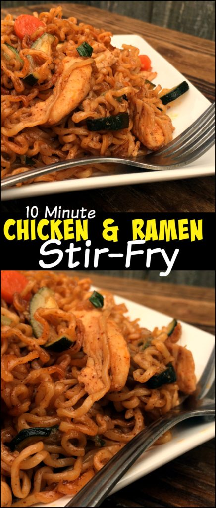 10 Minute Chicken & Ramen Stir-Fry | Aunt Bee's Recipes