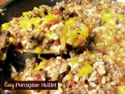 Easy Porcupine Skillet | Aunt Bee's Recipes