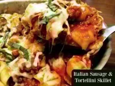 Italian Sausage & Tortellini Skillet | Aunt Bee's Recipes