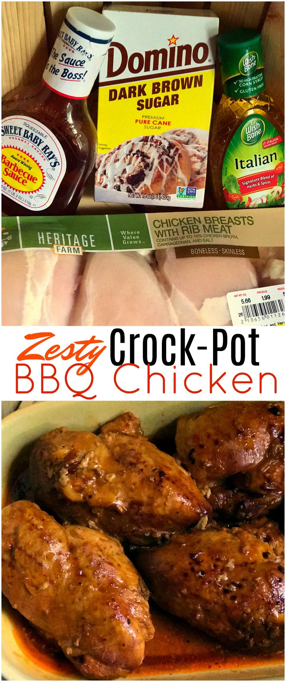 Zesty Crock Pot Bbq Chicken Aunt Bee S Recipes