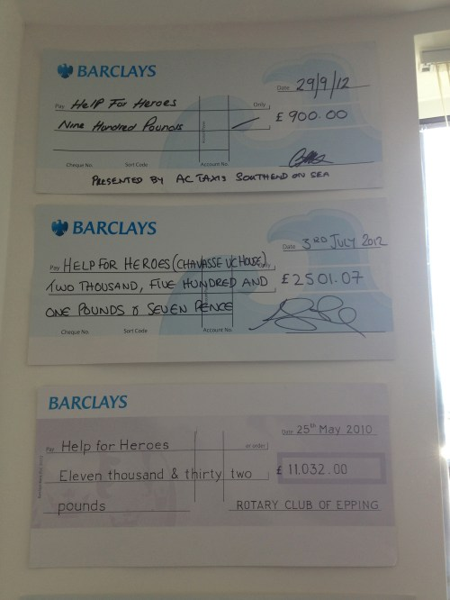 Help For Heroes Cheque