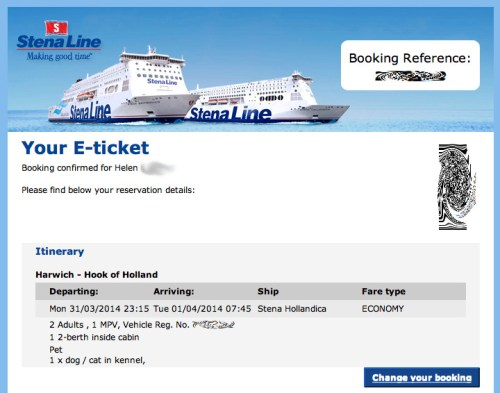 Ferry booking