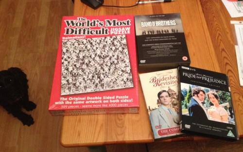 Puzzle & DVDs