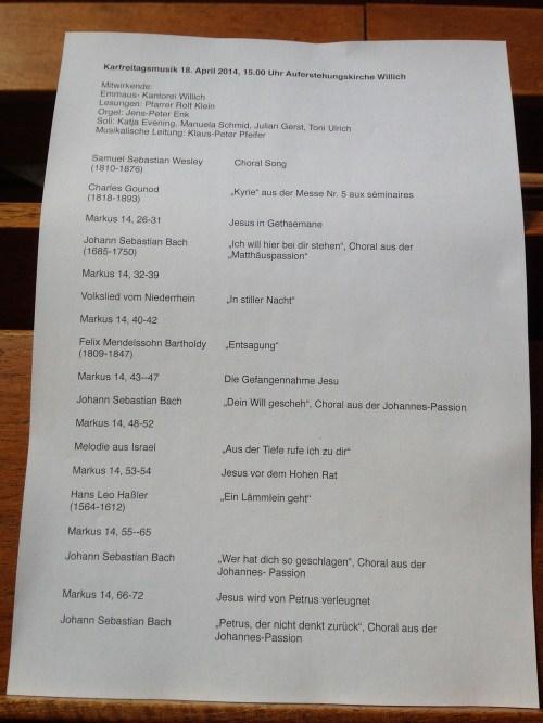 Karfreitagsmusik Seite 1
