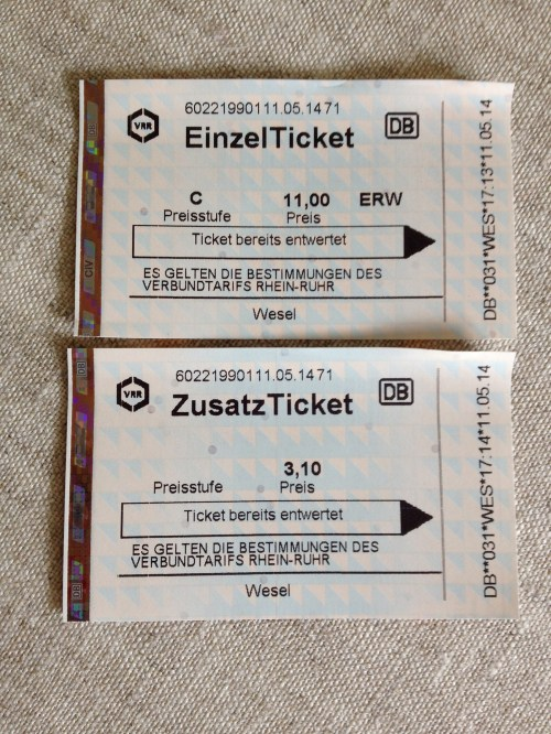 13 Wesel railway tickets
