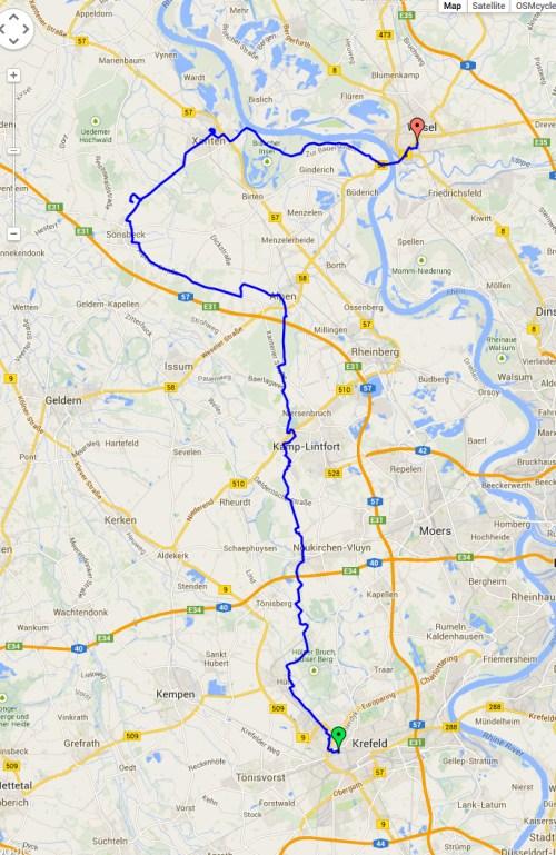 ADFC Xanten Wesel track